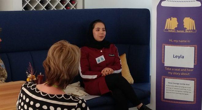 Leyla presenting to DPaC staff 2020